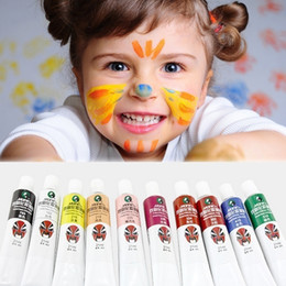 Wholesale Art Drawing Boards - Baby Christmas Gift 10 Colors Halloween Cosplay Beauty Face Painting Kid Toy Human Art Make up Body Paint Oil Painting