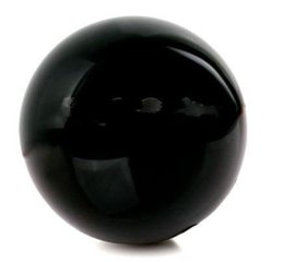 Wholesale Natural Crystal Ball Sphere - 2.4INCH (50mm) Natural Black Obsidiann Divination Sphere Crystal Ball with Stand