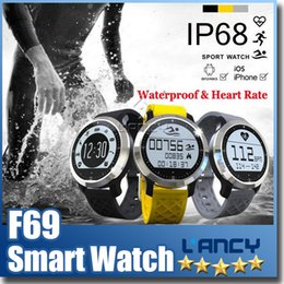 Wholesale Healthy Watches - New item F69 Waterproof Smart Watch Professional IP68 Swimming Mode Intelligent Healthy Heart Rate Bracelet for IOS Android Phone