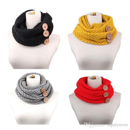 Wholesale Wholesale Knitted Shawls - New Fashion Women's Girl's Ring Scarf Scarves Wrap Shawls Warm Knitted Neck Circle Cowl Snood For Autumn Winter Free Shipping