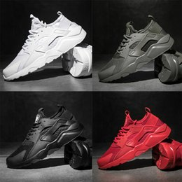 Wholesale black high low - Very Cheap! 2017 Huarache IV Running Shoes For Men Women, Triple Black White red High Quality Sneakers Huaraches Jogging Sports Shoes