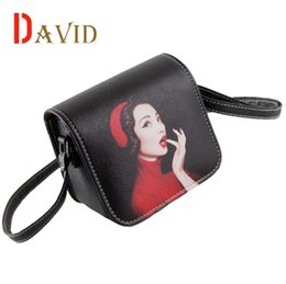 Wholesale Blue Cross Small Business - Wholesale-Crossbody bags for women messenger bags leather shoulder bags printing 2016 fashion small bag designer handbag high quality