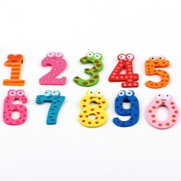 Wholesale Baby X Piece Set - 1set X mas Gift Set 10 Number Wooden Fridge Magnet Education Learn Cute Kid Baby Toy hot selling