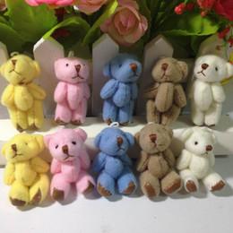 Toptan 100 adet 4.5 cm Peluş Ortak Küçük Teddy Bear Kolye minyatür ayı anahtarlık // Bouqeut mücevher aksesuar hediye Yumuşak Bebekler nereden küçük ayı aksesuarları tedarikçiler