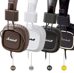 Wholesale Earphone Hi Fi - Marshall Major Headset With mic Great Bass DJ Hi-Fi Headphones HiFi Earphones Professional DJ Monitor Headphones 3 Colors with Retail Box