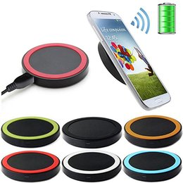 Wholesale S3 F - 2016 Qi Wireless Power Charger Portable Mini Charging Pad Plate Qi Station For Samsung Galaxy S3 S4 S5 Note 2 free shipping via DHL F UPS