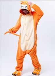 pijamas laranja mulheres Desconto Inverno Unisex Adulto Animais Sono Casaco Pijama Completo Cosplay Mulheres Laranja Macaco Pijama Conjuntos De Pijama Flanela Conjuntos De Pijama Oneises
