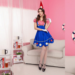 Wholesale Sexy Costumes For Role Play - Hot Sale 2016 New arrival Blue Cosplay womens sexy costumes role play Fancy French Maid for adults