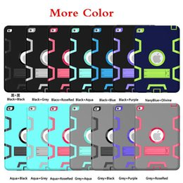Wholesale Top Case China - Top qulity Robot Combo 2 in 1 Tablet PC Case Cover Protective shell for iPad Pro 9.7 ipad 2 3 4 Air1 2 mini4