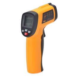 Wholesale Ford Laser - GM550E Digital non-contact IR infrared LCD thermometer Laser SensorTemperature Meter 50~550C adjustable 0.95 pyrometer