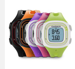 Wholesale Forerunner Garmin - Wholesale- GPS watch original Garmin Forerunner 10 5ATM men & women profession outdoor sport running Forerunner10 training garmin watch