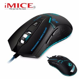 Wholesale Gaming Peripherals - [Genuine] iMICE X8 Professional Mice 6 Buttons Gaming Mouse LED Optical USB Wired Computer Desktop Cable Gamer Peripherals