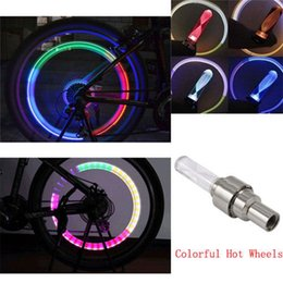 Wholesale Tire Lights For Cars - Beautiful tools Bicycle Car LED Neon Tire Wheel Nozzle Valve Core Glow Stick Light for Cycling