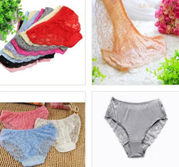 Wholesale Hot Lady Red Lingerie - Hot sale Women's Sexy Fashion Panties Briefs Bikini Knickers Lingerie Lady Floral Underwear colorful festive xmas gift drop shipping