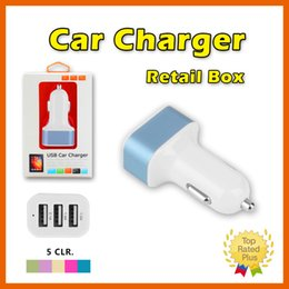 Wholesale Iphone S Usb - Car Chargers Charging adapter 3 USB Ports Universal Charger For iPhone 4 5 SE 6 S PLUS Samsung S7 5V 4.1A 01