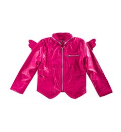 Wholesale Leather Jackets For Children Girls - Wendy Wu Children wing leather jacket PU motor girls coat Stand Collar PU Leather Moto Wing Jacket for 3-9 year old