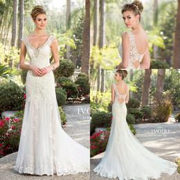Wholesale Spring Chen - Fantastic Kitty Chen Mermaid Wedding Dresses 2016 New Summer Beach V Neck with Beads Crystal Backless Bridal Gowns Vestido De Novia BA1672