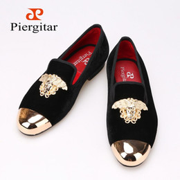 Wholesale Metal Free Shoes - New Fashion Medusa Top and Metal Toe Men Velvet Casual shoes Men Luxurious Loafers Plus Size Men's Flats Size 6-14 Free shipping