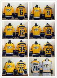 Nashville Predators Men Jersey 18 James Neal 35 Pekka Rinne 9 Filip  Forsberg 59 Roman Josi 76 P.K. SUBBAN Mens Hockey Jerseys 19b97d054