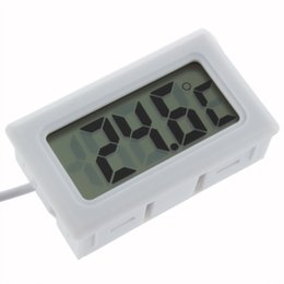 Wholesale Wholesale Display Aquariums - 2016 Hot Search 1Pcs Temperature Measurement LCD Display Thermometer Digital for Aquarium Freezer Black and White Color