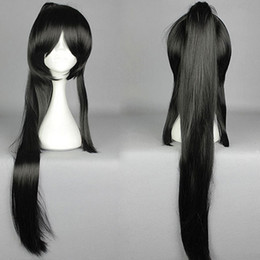 Wholesale Black Ponytail Cosplay Wig - Fashion Japanese Massively Multiplayer Game ToukenRanbu ToukenRanbu TaroTachi Black Cosplay Wig Pigtail + 1 Ponytail ePacket Free