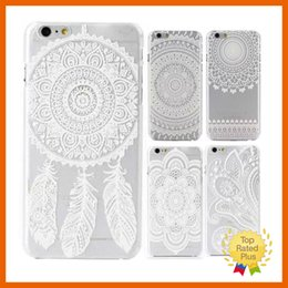 Wholesale pink lace iphone case - Sunflower Mandala Style Floral Lace Lovely Protective Sleeve Phone Case Cover For Apple iPhone 7 6 6s plus 4.7 inch