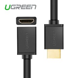 Wholesale Hdmi Cables For 3d Tv - Ugreen Male to Female HDMI Extended Cable for Laptop to Computer Display 3D HDMI to HDMI 1.4V Cables for TV HDProjector PS3