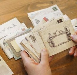 Wholesale Free Scrapbooking Papers - Wholesale-3 bags lot (36 pieces) Mini Cute Ancien Paper Envelope Retro Vintage European Style For Card Scrapbooking Gift Free shipping