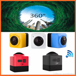Wholesale Cube H - Cube 360 Sports Video Camera WIFI H.264 1280*1042 360 Degrees Panorama Camera DHL Free Shipping