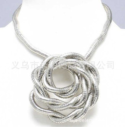 "Wholesale Silver Snake Chain 5mm - Silver bendy snake necklace, diameter 5mm, length 90cm(35""), free shipping"