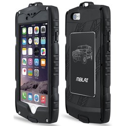 """Wholesale Phone Shock Waterproof - Black Outdoor Anti-shock Waterproof Phone Cases Plastic PC +TPU Shell For iPhone 6 6s 4.7"""" with retail box"""