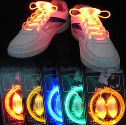 Wholesale Disco Boys - Colorful LED Flash Light Up Shoe Laces Party Disco Shoes Strap Glow Stick Shoelaces Boys Girls Multicolor Shoe Strings