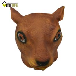 Wholesale Adult Squirrel - Umiwe Magical Creepy Adult Squirrel Head Latex Rubber Mask Animal Costume Prop Toys Party