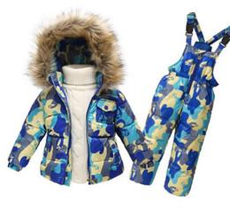 Wholesale Toddler Casual Suit Jacket - PCS Set Kids Clothes (Down Jacket +Rompers)Sport ski suit Girls Boys Clothes Toddler Baby tracksuit Winter children clothing