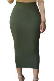 Wholesale Ladies Gray Pencil Skirts - 2017 Fashion Summer Pencil Skirt Office Lady Bodycon Slim Vintage Midi Skirt Womens High Waist Saias Femininas winter women long skirt 71188