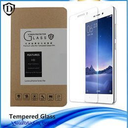 Wholesale Boxed Screen Guards - For Xiaomi Series Mi5 Explosion proof Protective Film Guard 9H 0.26MM Anti-Scratch Tempered Glass Screen Protector Free shipping retail box