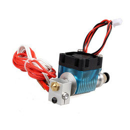 Freeshipping новая головка Штрангпресса принтера V6 3D длинняя/короткая расстояния с охлаждающим вентилятором для частей принтера сопла 3D нити 0.3 1.75 mm от Поставщики пластиковые дверные тяги