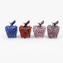 Wholesale Red Apple Charms - 7 colors 50pcs lot apple style Big Hole Loose space Beads charms For Pandora DIY Jewelry Bracelets For European fresshipping