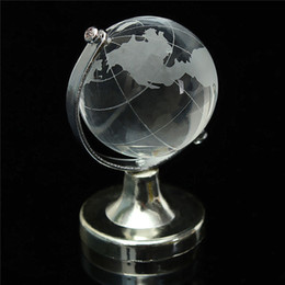 Wholesale paperweights gifts - Unique Wedding Favors Crystal Globe Paperweight Bridal Shower Baby Girl Christening Party Decoration Gift Free Shipping ZA4407