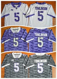 Wholesale Mens American Football Jerseys - 5 LaDainian Tomlinson TCU Horned Frogs Mens Football Jerseys American College Men For Sport Jersey Size S-XXXL
