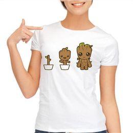 Wholesale Green Guardian - Wholesale- yiwuliming Guardians of the Galaxy I AM GROOT Adult T shirt Women T Shirt Fashion Summer Tees Shirts Asian Size S-XXL