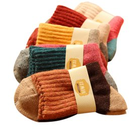 Wholesale Thermal Socks For Women - Wholesale-Brand winter vintage national wind thermal rabbit wool socks for women high quality thicken warm socks 5pairs lot