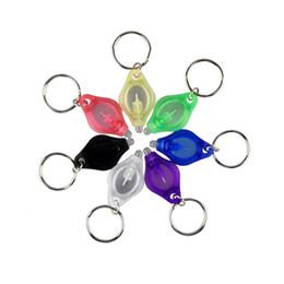 Wholesale Money Color - Outdoor Sport LED Light Keychain Keyring Money Detector High Quality Protable Mini Car Key Accessories 7 Color 2503051