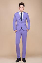 Wholesale 48 Suit Size - New photo studio men wedding photography candy color larger size suit groom suit performance host suit men