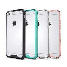 iphone air back Rebajas Nuevo para el caso de Iphone 7 TPU Transparente Air Hybrid Case Soft TPU PC cubierta trasera para Iphone 6S DHL SCA198
