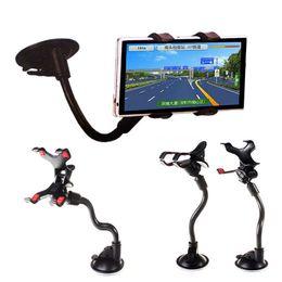 Universal 360 graus de rotação Braço longo do pára-brisa do telefone móvel Car Suporte de Montagem Stand Holder para o iPhone celulares Cars Titular YM0116 de Fornecedores de scooters móveis atacado