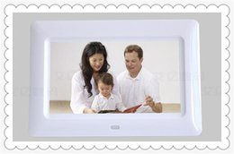 Wholesale Digital Photo Displays - DHL HOT 7 inch HD LCD Screen Desktop Digital Photo Frame Calendar Digital Picture Display Frame with Calendar Support Tf Sd Flash Drives