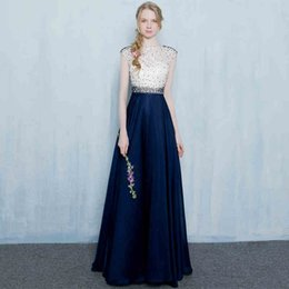 Wholesale Elegant One Shoulder Sash - 2017 New Style Vintage Lace Party Dresses Beading Floor Length Long Prom Gowns High Quality Elegant Party Dresses