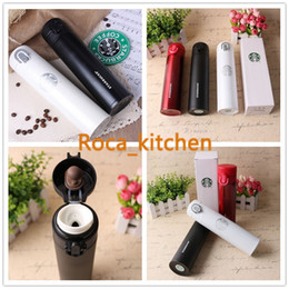 Wholesale New Vacuum - 2016 New Creative Starbucks double stainless steel vacuum insulation Cup, gift cup of coffee cup car portable cup