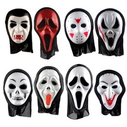 Wholesale Ghost Mask Toys - New the Monolithic horror ghost masks Exclaimed a face mask Halloween mask scream White ghosts ghosts masks